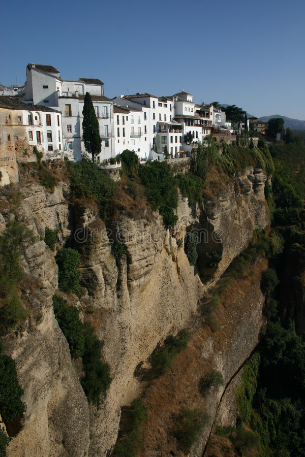 Scenic gorge at Ronda royalty free stock photos