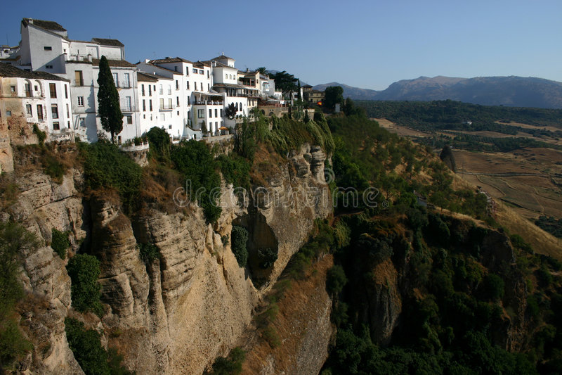 Scenic gorge at Ronda stock image