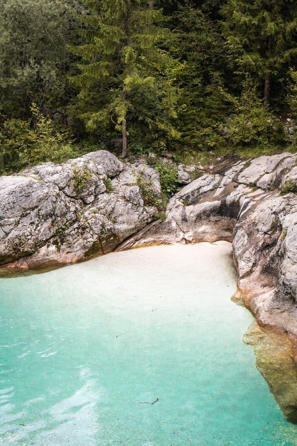 Scenic great river soca gorge in triglav national park, slovenia. Scenic great river soca gorge in triglav national park stock photography