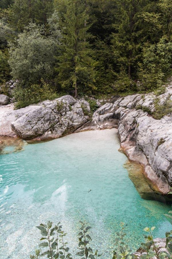 Scenic great river soca gorge in triglav national park, slovenia. Scenic great river soca gorge in triglav national park royalty free stock images