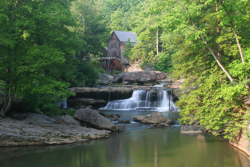 Download Scenic Grist Mill stock image. Image of grist, waterfall - 8258633
