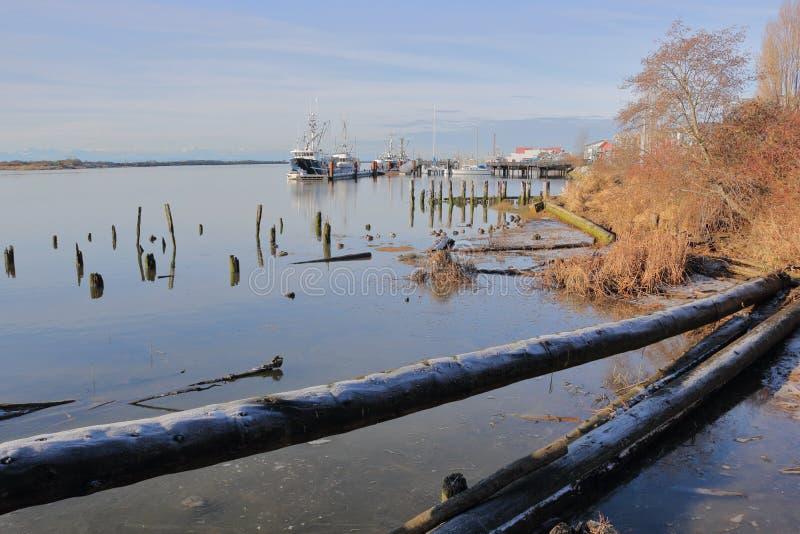 Scenic Harbor Front in Richmond, BC stock image