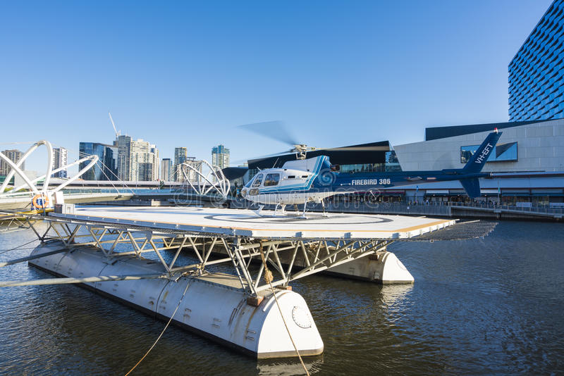 Scenic helicopter tour in Melbourne, Australia royalty free stock photos