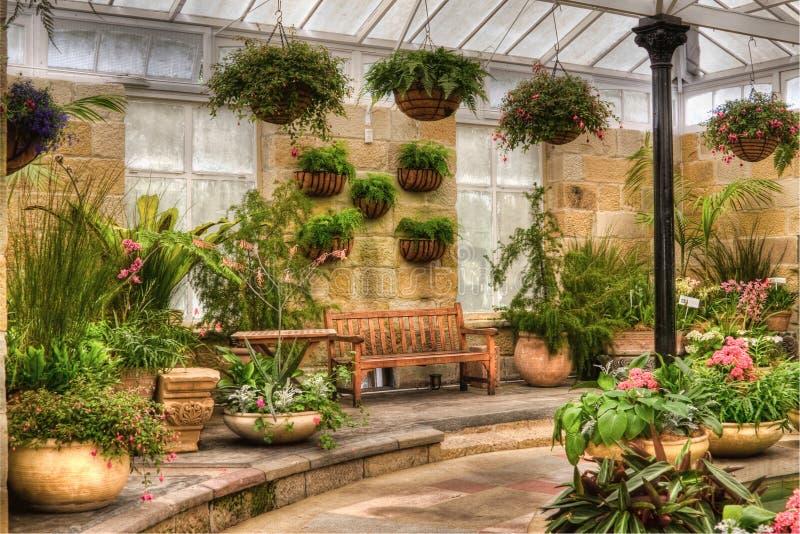 Download Scenic Indoor Garden Area Stock Image. Image Of Blooming   17120673