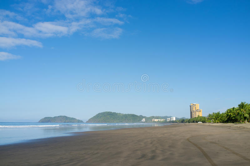 Scenic Jaco beach royalty free stock images