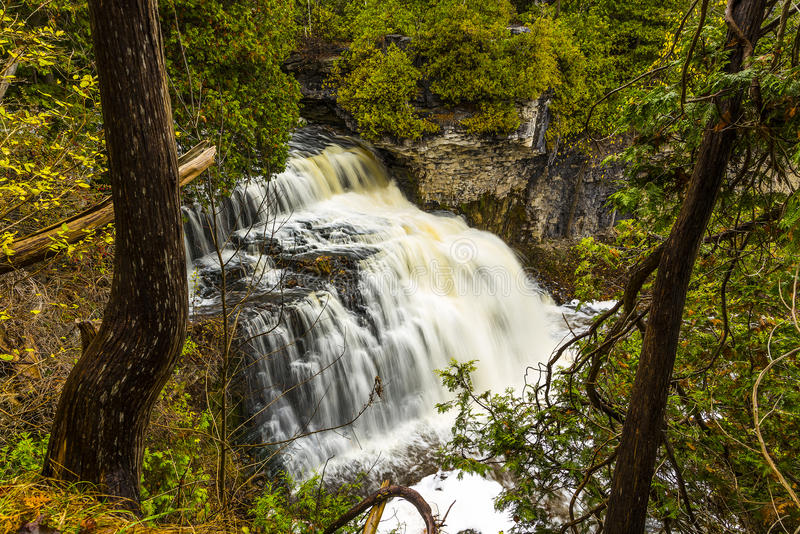 Scenic Jones Falls of Owen Sound. Scenic view overlooking the jones falls in Owen Sound, Ontario, Canada royalty free stock image