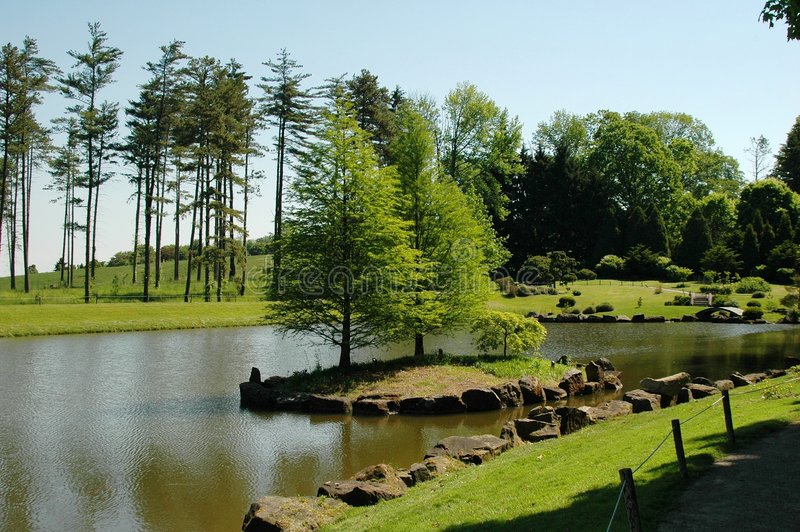 Scenic lake royalty free stock photo