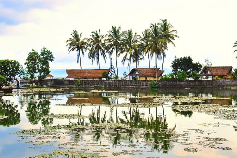 Scenic lake in Bali stock image