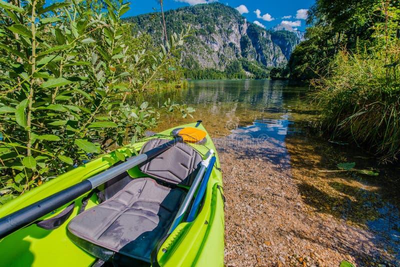 Scenic Lake Kayaking stock photos