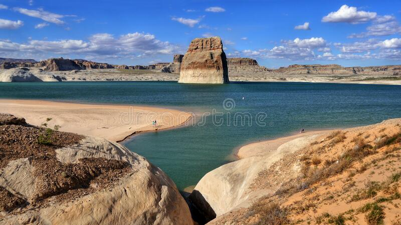 Scenic Lake Powell Page Arizona landscape USA royalty free stock images