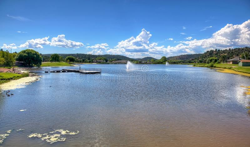 Scenic lake and recreation in Payson, Arizona. Scenic man made lake in Payson, Arizona royalty free stock photos