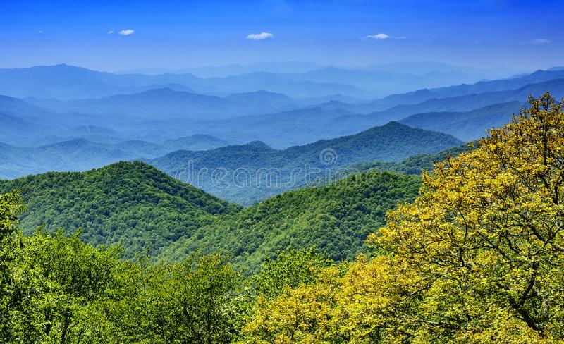 Scenic Landscape of the Blue Ridge Mountains royalty free stock photo