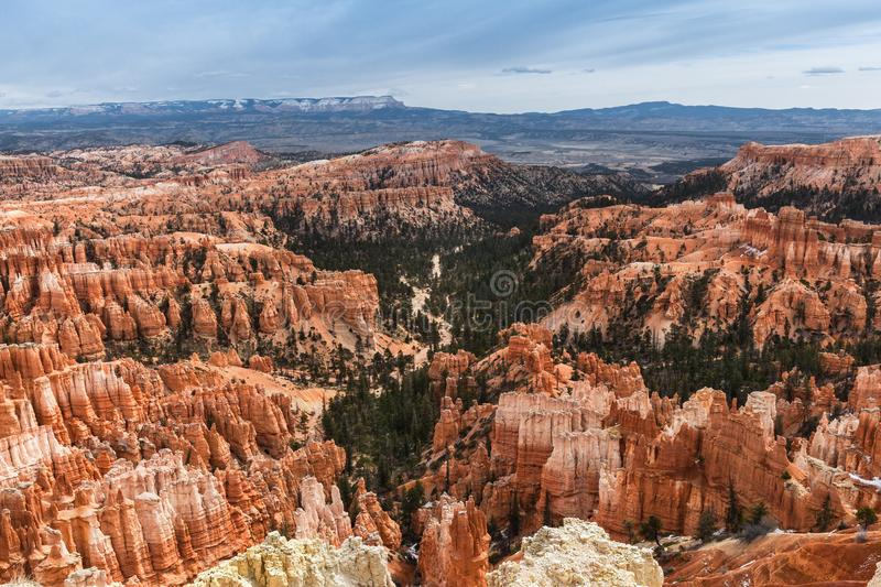 Scenic Landscape At Bryce Canyon National Park, USA royalty free stock images