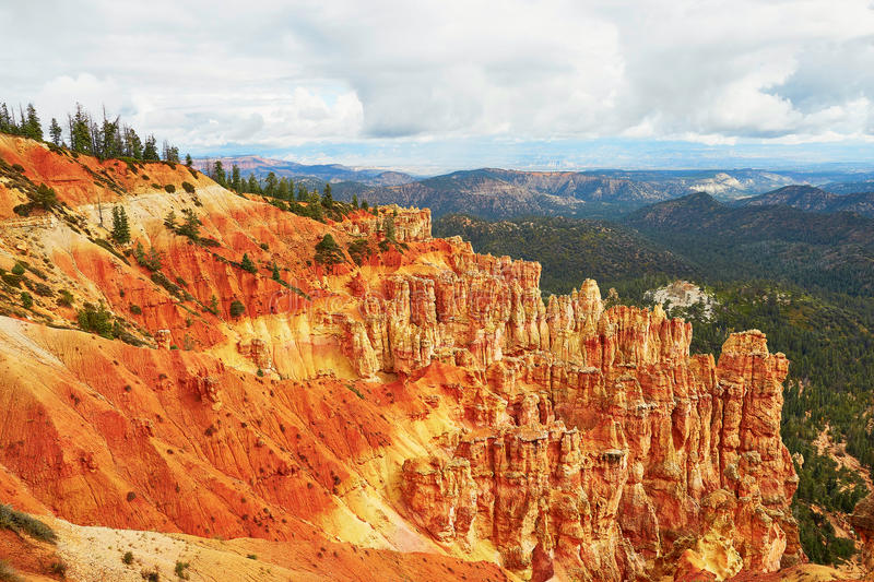 Scenic landscape in Bryce Canyon, Utah, USA royalty free stock photography