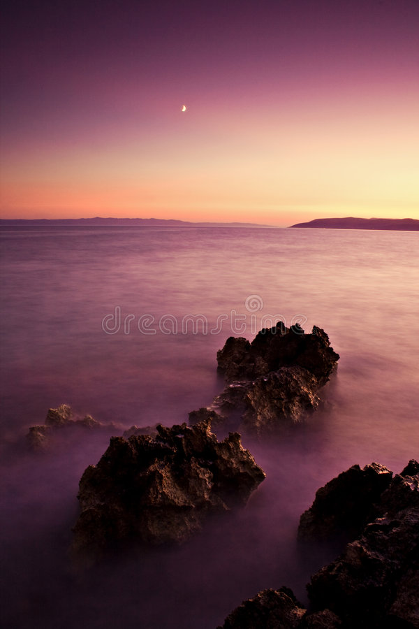 Scenic landscape and the ocean stock images