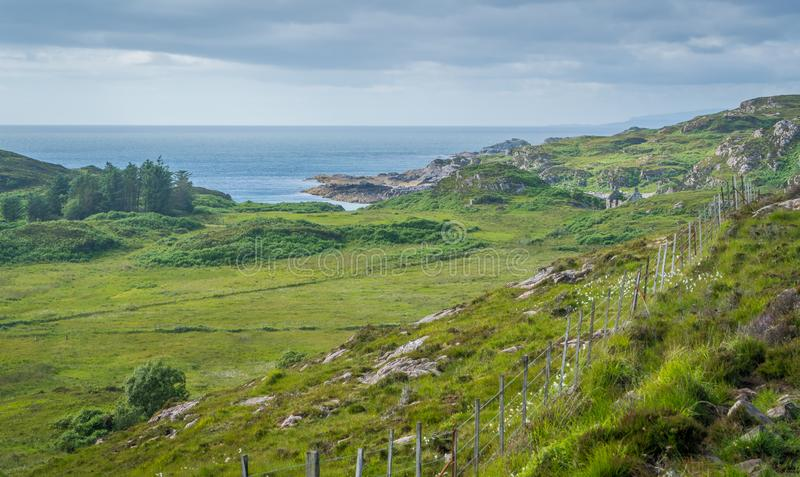 Scenic landscape in Point of Sleat, the southernmost point of Skye. Scotland. Point of Sleat is the southernmost point of the isle of Skye, in Scotland royalty free stock photo
