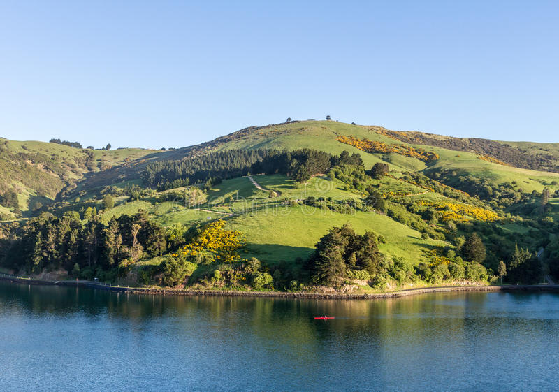 Scenic Landscape Port Chalmers stock images