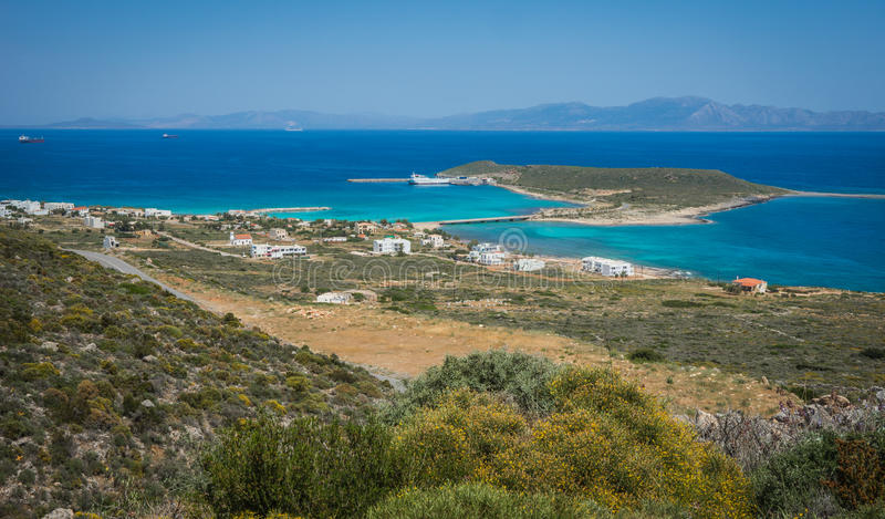 Scenic landscape with seaview, Kythira, Greece royalty free stock images