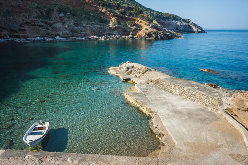 Scenic landscape with seaview, Kythira, Greece royalty free stock image