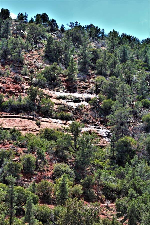 Landscape scenery Maricopa County, Sedona, Arizona, United States. Scenic landscape view of the mountains and desert vegetation located in Sedona, Arizona royalty free stock photos