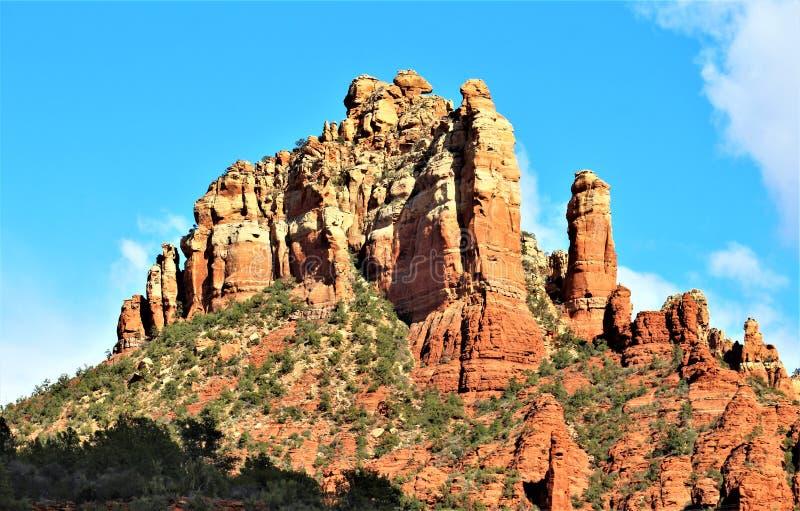 Landscape scenery Maricopa County, Sedona, Arizona, United States. Scenic landscape view of the mountains and desert vegetation located in Sedona, Arizona royalty free stock image