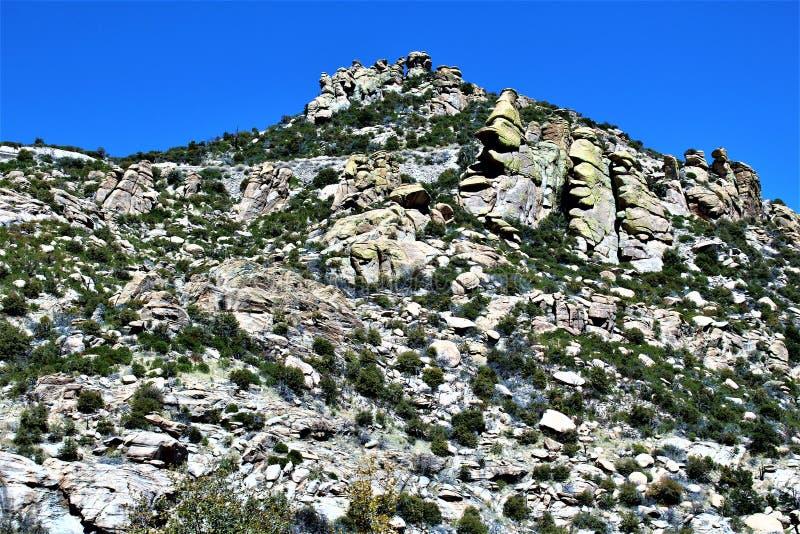 Mount Lemmon, Tucson, Arizona, United States. Scenic landscape view with vegetation of Mount Lemmon located in Tucson, Arizona in the United States stock photography