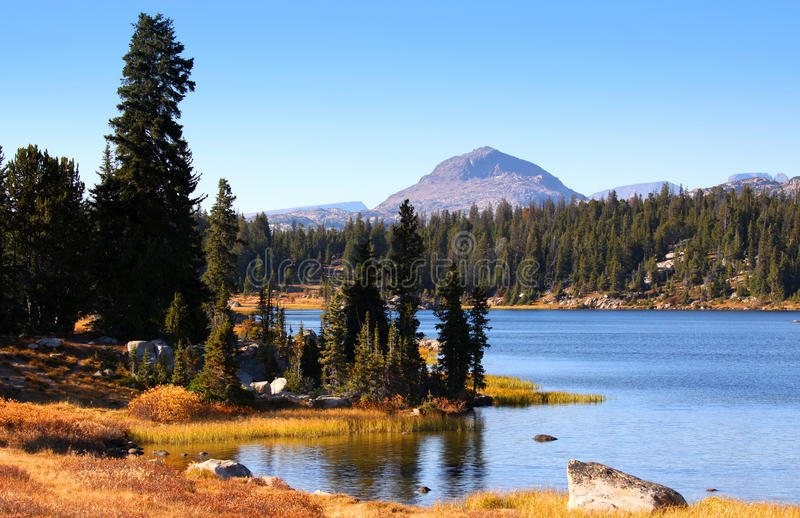 Scenic landscape in Wyoming stock photos