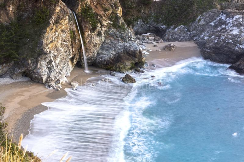 Scenic McWay Falls Big Sur Central California Coast royalty free stock image