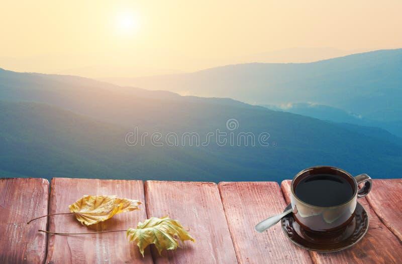 Scenic mountain landscape stock photo