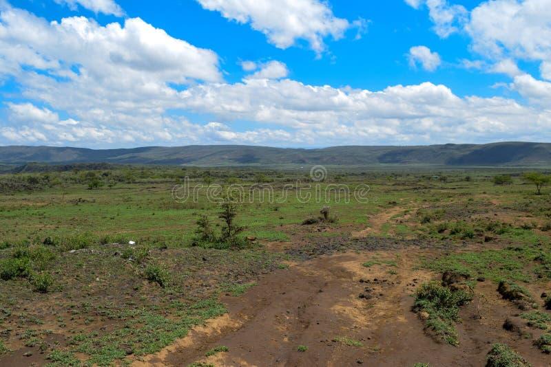 Scenic Mountain landscapes against sky. Panoramic mountain landscapes in rural Kenya, Mount Suswa, Rift Valley, Kenya stock photos