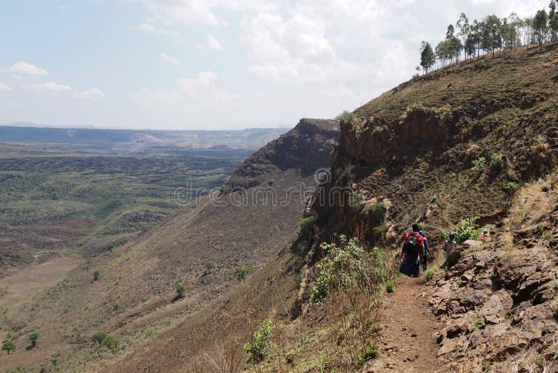 Scenic Mountain landscapes in rural Kenya. The Volcanic crater on Menengai Crater, Nakuru, Rift Valley, Kenya royalty free stock photos