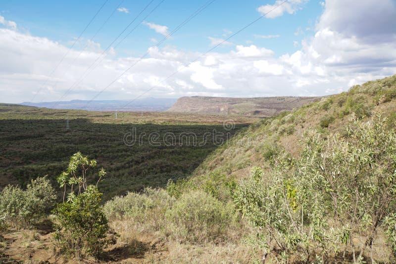 Scenic Mountain landscapes in rural Kenya. The Volcanic crater on Menengai Crater, Nakuru, Rift Valley, Kenya stock photos