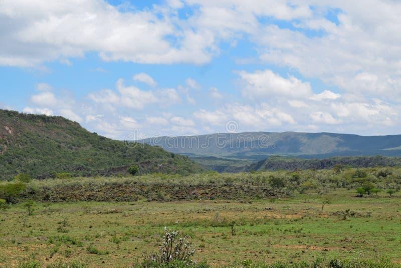 Scenic Mountain landscapes in rural Kenya. The Volcanic crater on Menengai Crater, Nakuru, Rift Valley, Kenya stock photography