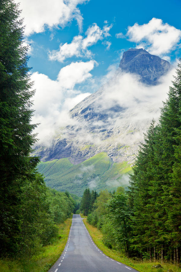 Download Scenic mountain road stock image. Image of direction - 25557653