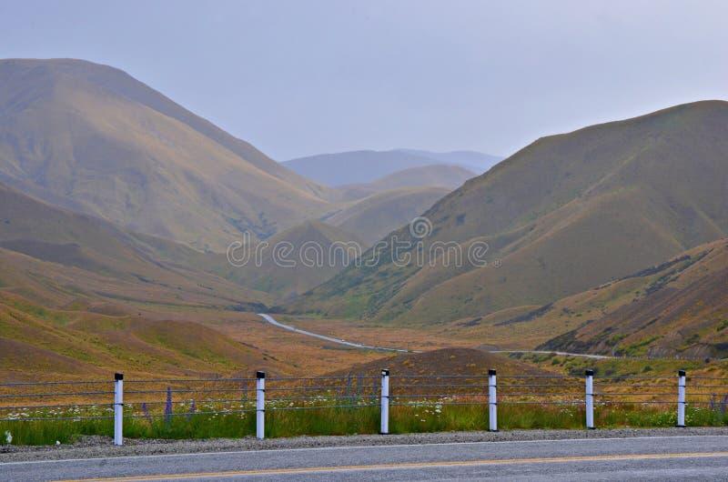 Scenic Mountain Road, New Zealand royalty free stock photo