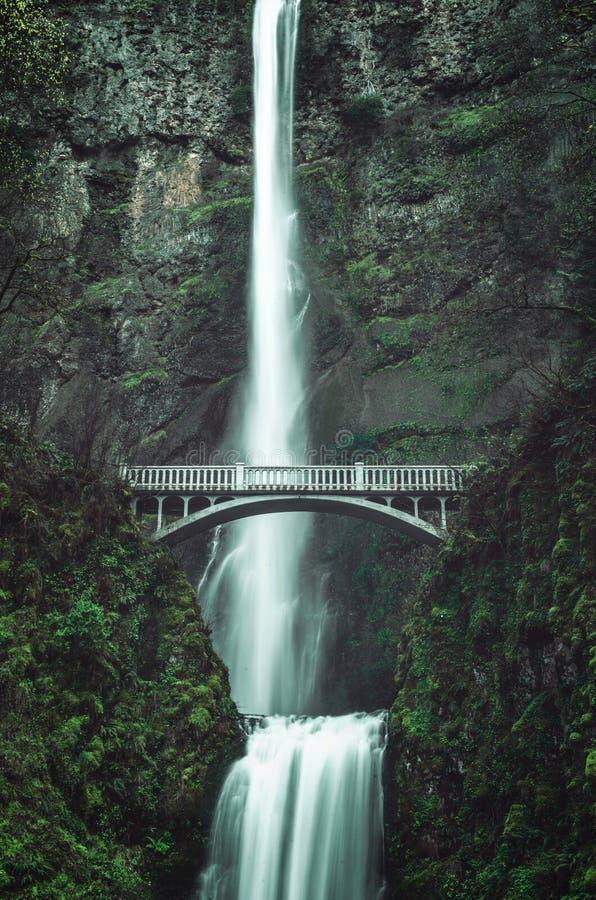 Scenic Multnomah Falls stock photo