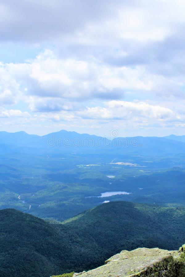 Whiteface Mountain, Wilmington, New York, United States. Scenic overlook view from the top of Whiteface Mountain, located in Wilmington, New York, United States stock photography