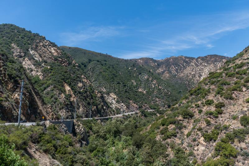 Scenic panoramic Malibu Canyon vista, Malibu. Southern California royalty free stock images