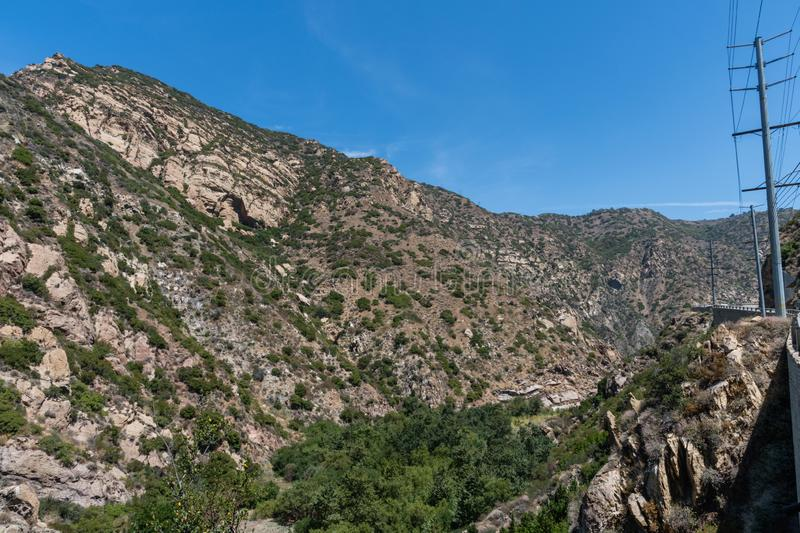 Scenic panoramic Malibu Canyon vista, Malibu. Southern California stock image