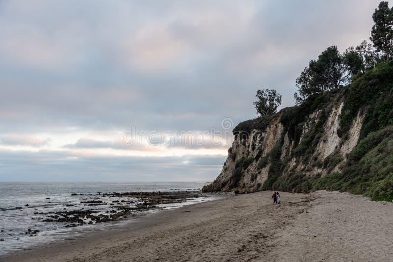 Scenic Paradise Cove vista at sunset, Malibu, California royalty free stock images