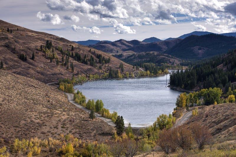 Scenic Patterson Lake. The scenic Patterson Lake near Winthrop, Washington in Okanogan County stock photos