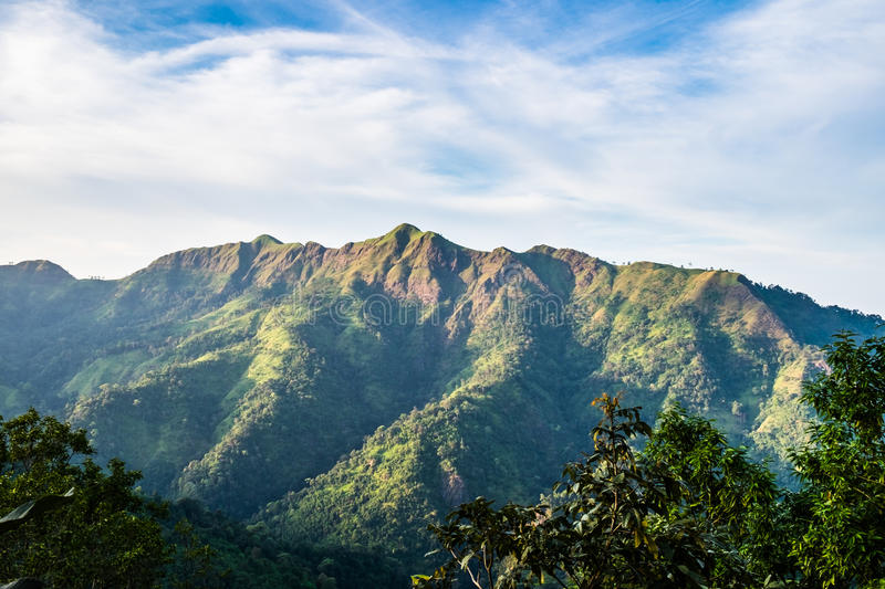 Scenic peak mountain cloudy day royalty free stock image