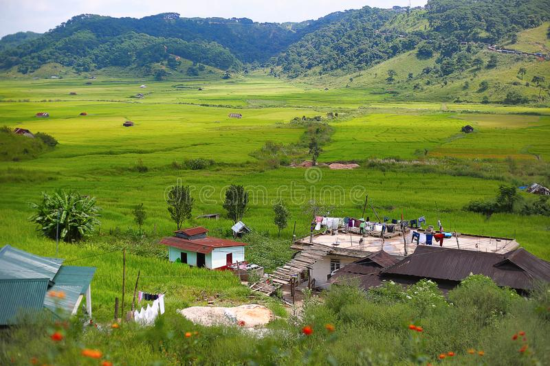 Scenic place located on a plateau, Jowai Valley, Meghalaya, India. Jowai Valley, Meghalaya, India. Scenic place located on a plateau royalty free stock images