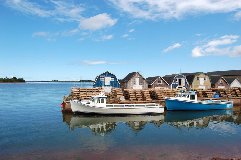 Scenic Prince Edward Island. A fishing marina at Prince Edward Island, Canada stock photo