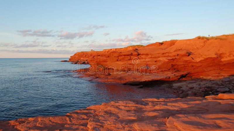 Scenic Prince Edward Island. Red sand dunes at Cavendish East, Prince Edward Island, Canada stock images