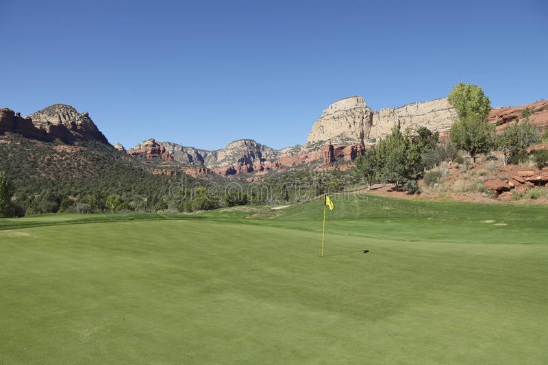 Download Scenic Red Rock Golf Hole stock photo. Image of game - 27517716