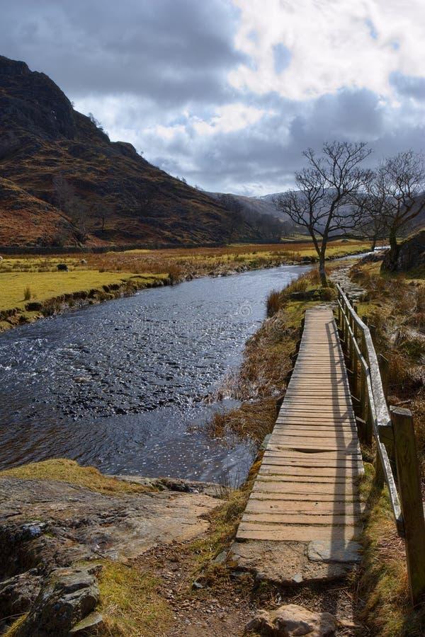 Scenic river in Lake District stock image
