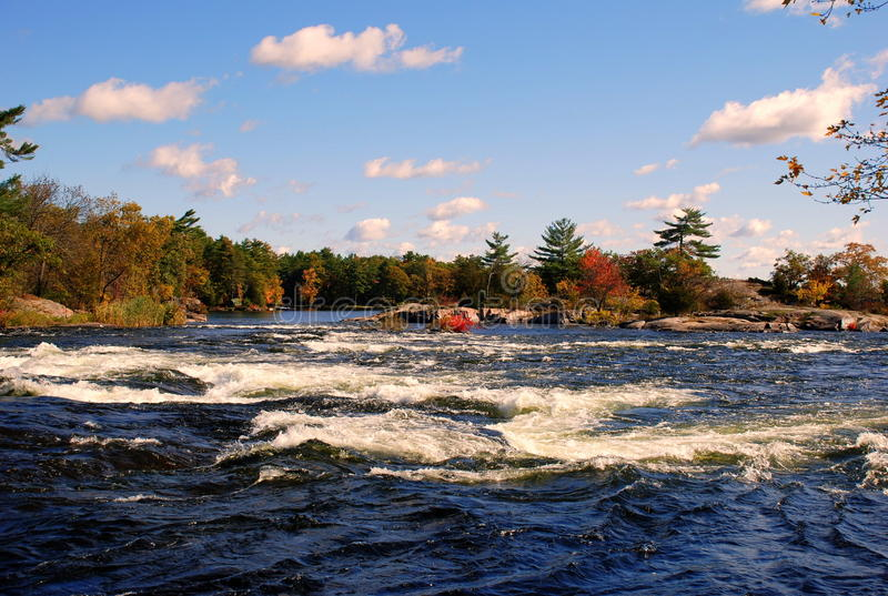 Scenic river and rapids stock photography