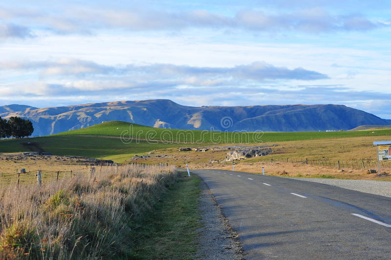 Download Scenic Road With Mountain Ridges Stock Image - Image: 22602623
