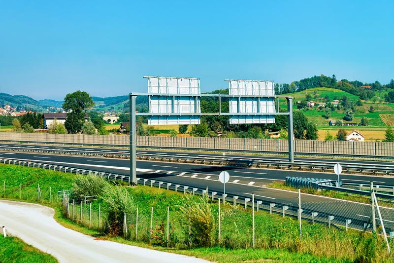Scenic road in Slovenia Julian Alps stock images